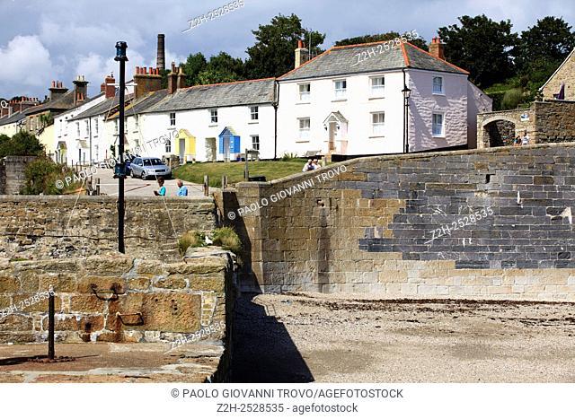 The historic 18th. century Charleston Town, Cornwall, England, United Kingdom