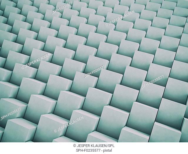Cubes stack formation, illustration