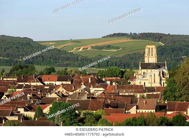 France, Aube, Cote des Bar, Essoyes, general view of the village, native place of Aline Victorine Charigot Auguste Renoir's wife where the painter lived until...