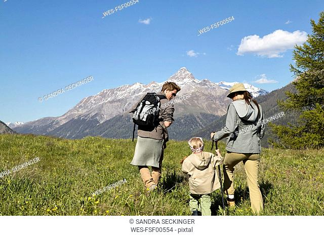 Family on a hiking trip