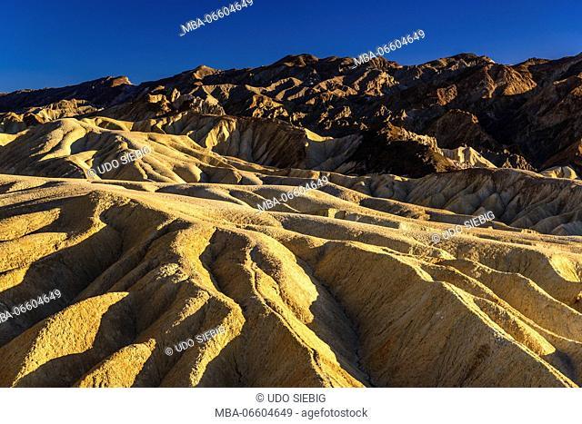 The USA, California, Death Valley National Park, Zabriskie Point, badlands
