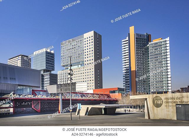 Barcelona City, Diagonal Mar District, Skyline