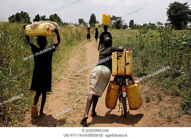 Water chore. Uganda