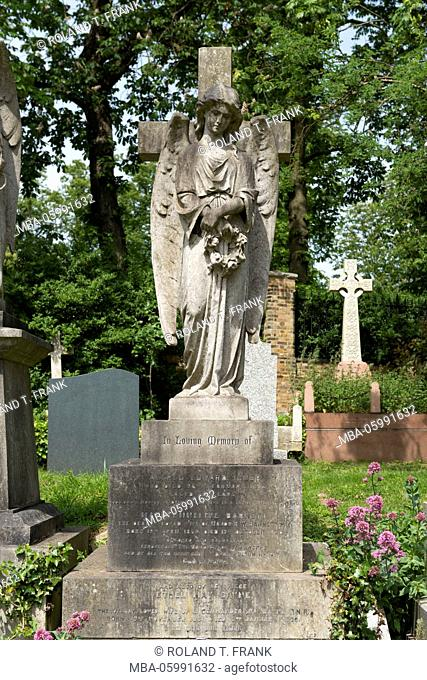England, London, Highgate Cemetery is a cemetery located in the present-day borough Camden of the British capital opened in 1839