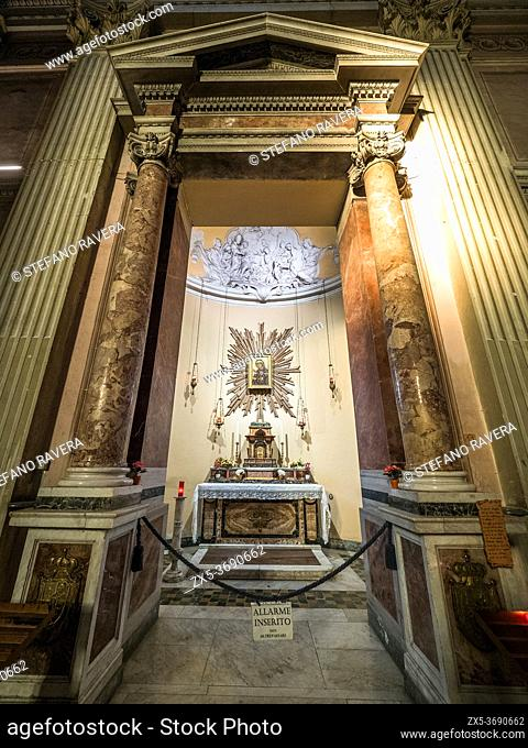 The Chapel of the Most Holy Sacrament and Madonna di Sant'Alessio in the Basilica of Saints Bonifacio and Alexis on the Aventine hill - Rome, Italy