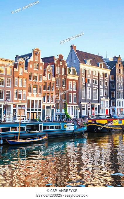 City view of Amsterdam, the Netherlands