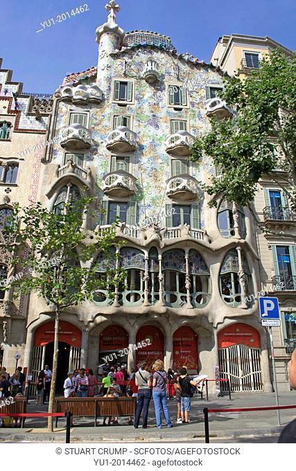 Antoni Gaudi's Casa Batllo, Barcelona, Catalonia, Spain