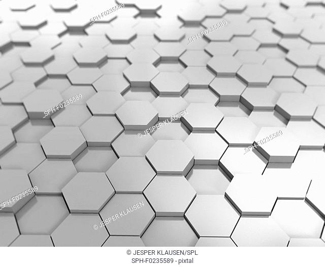 Hexagon pattern 3d background, illustration