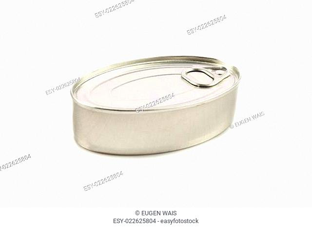 Tin can isolated on white. studio shot of a tin can isolated with clipping path