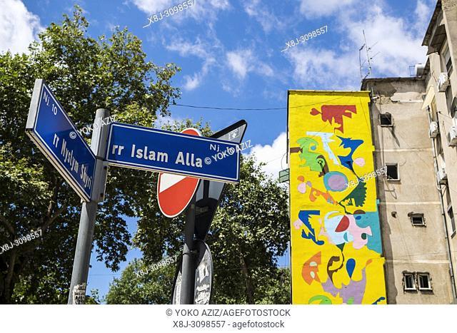 Albania, Tirana, centre town