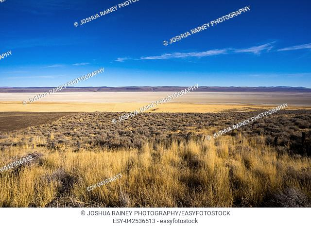Dry Lake bed at Summer Lake in Central Oregon. This region is popular for birds and wildlife