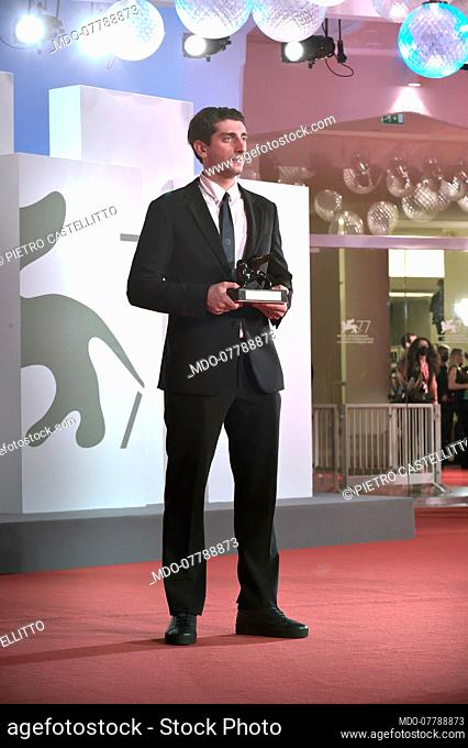 Italian actor and director Pietro Castellitto at the 77 Venice International Film Festival 2020. Winners red carpet. Venice (Italy), September 12th, 2020