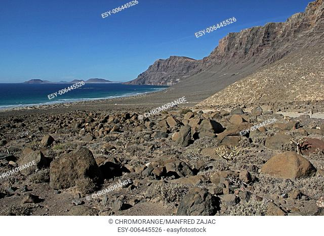 Risco de Famara Isla Graciosa, Lanzarote, Spain