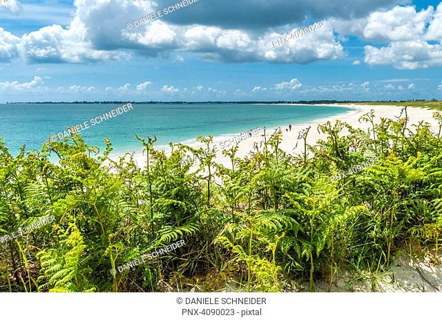 France, Brittany, Finistere, Combrit, Sainte Marine beach
