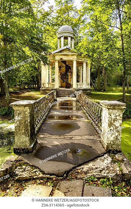 Old damaged coffee pavilion at Kemeri National Park, Latvia, Baltic States, Europe