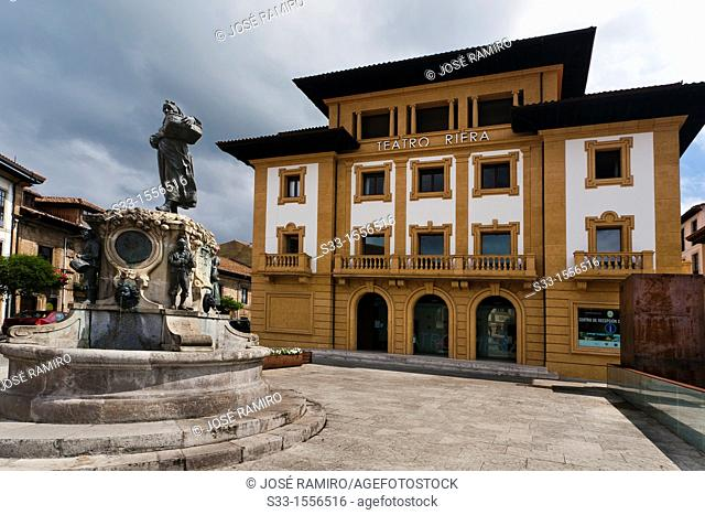 Riera theatre in Villaviciosa  Asturias  Spain
