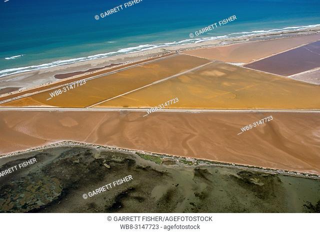 Salt Pans, Delta del Ebro, Catalunya - Aerial