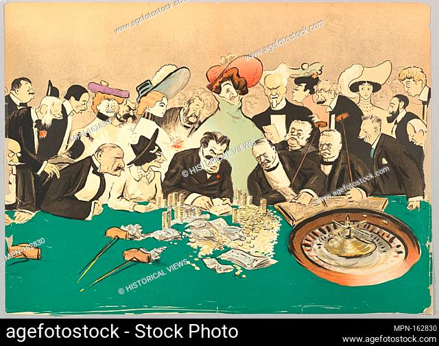 La Roulette in the Casino, from Monte-Carlo, 2nd Serie. Artist: Georges Goursat [Sem] (French, Perigueux 1863-1934 Paris); Date: ca