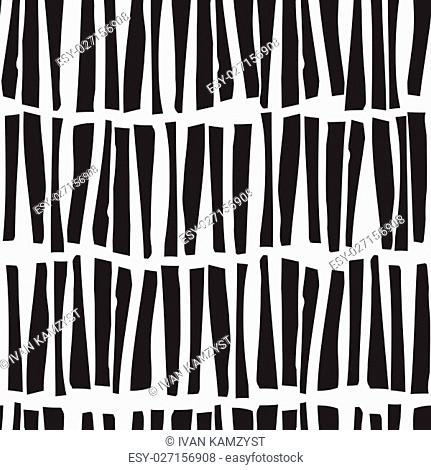 Abstract seamless vector pattern with hand drawn vertical lines. Monochrome illustration stripes texture. Hipster graphic design
