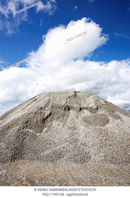 Pile of macadam. Location Suonenjoki Finland Scandinavia Europe