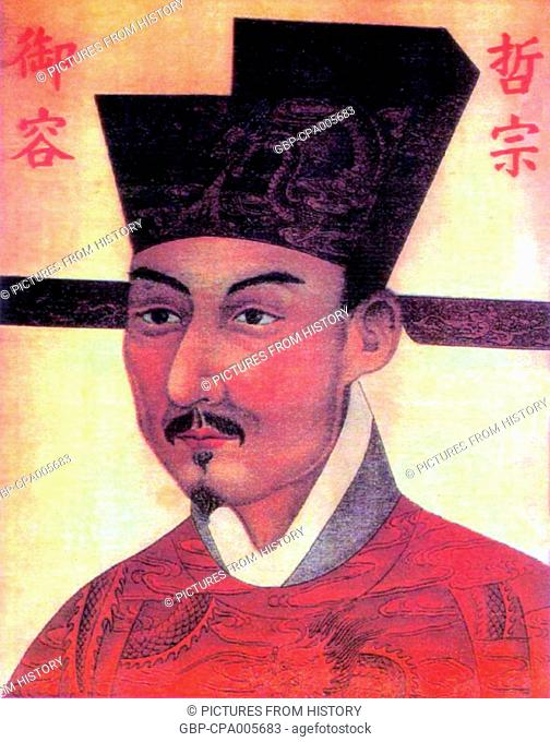 China: Emperor Zhezong (Zhao Xu), 7th ruler of the (Northern) Song Dynasty (r. 1085-1100)