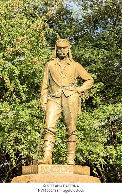 David Livingstone Statue, Victoria Falls, Zimbabwe, Africa
