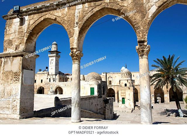 THE ESPLANADE OF THE MOSQUES HARAM AL-SHARIF, TEMPLE MOUNT, THE OLD CITY OF JERUSALEM, ISRAEL