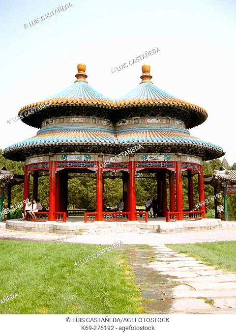 The Double Circle Longevity Pavillion. The Temple of Heaven. Beijing. People's Republic of China
