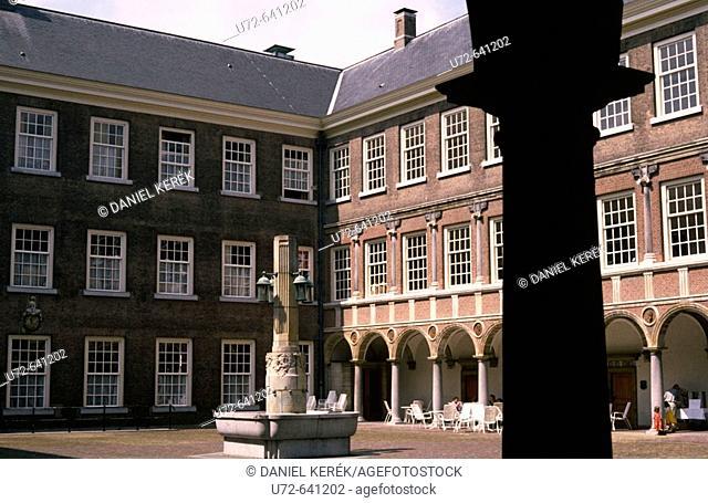Patio of Royal Military Academy Castle, Breda, Netherlands