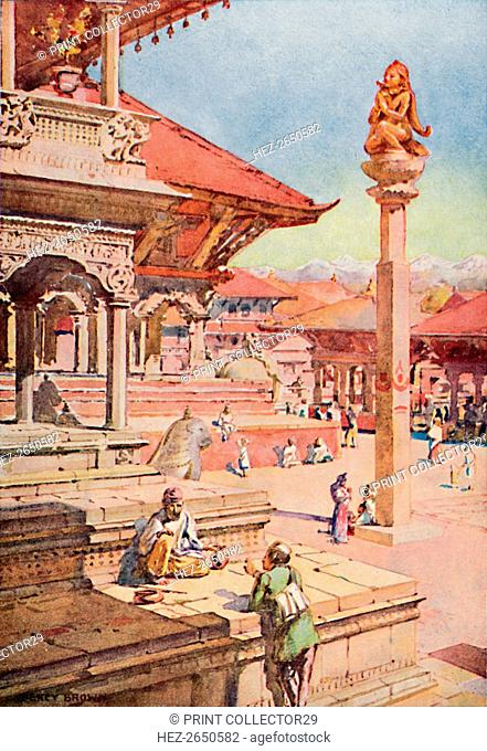 'A Corner of the Durbar Square, Patan, Nepal', 1913. Artist: Unknown