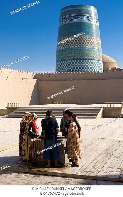 Muslims at Ichon-Qala Fortress, Khiva, Uzbekistan, Central Asia