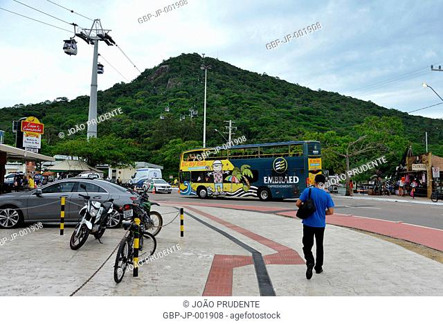 Tourist center, front, Morro da Aguada, highlight, sightseeing bus, 2017, city, Balneário Camboriú, Santa Catarina, Brazil