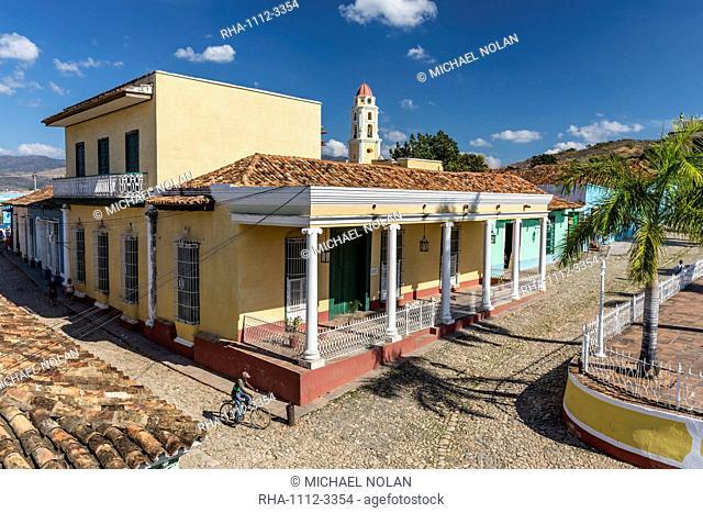 The Convento de San Francisco and Plaza Mayor, Trinidad, UNESCO World Heritage Site, Cuba, West Indies, Caribbean, Central America