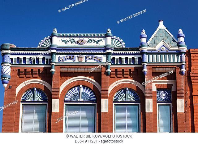 USA, Oklahoma, Guthrie, downtown historic buildings
