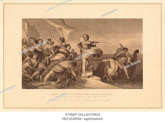 'King Alfred Inciting The Anglo Saxons', (1878). Artist: Herbert Bourne