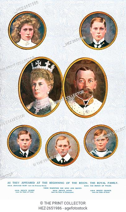 The Royal Family, c1935. From 'The Illustrated London News Silver Jubilee Record Number 1910-1935'. [The Illustrated London News and Sketch, Ltd
