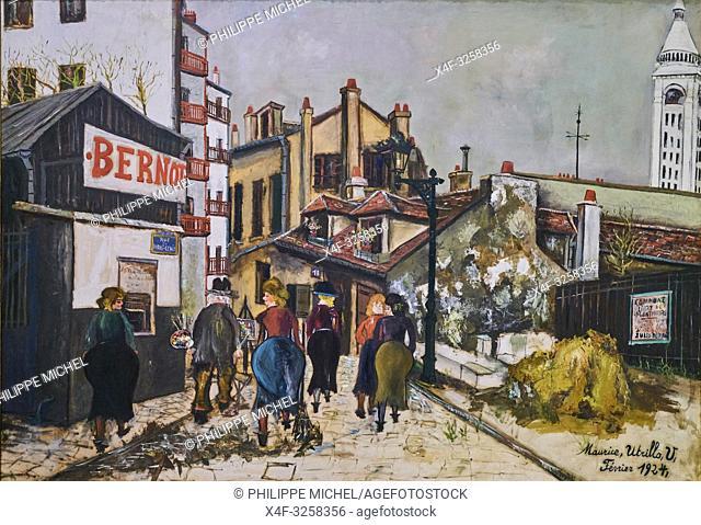 France, Paris, les Tuileries, museum of Orangerie, La Maison Bernot par Maurice Utrillo, 1924