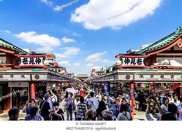 Japan, Tokyo, Asakusa district, Nakamise-dori, Nakamise Street