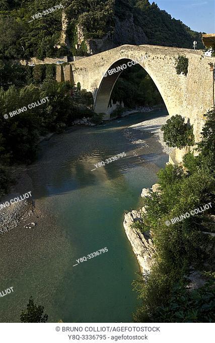 Roman bridge in Nyons, Drôme, France