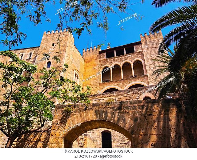 Palau de la Almudaina - palace in Palma de Mallorca, Balearic Islands, Spain