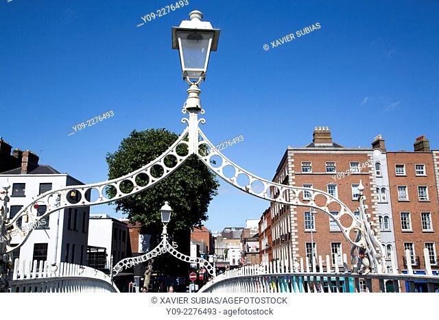 Ha'penny Bridge, Dublin, Leinster, Ireland