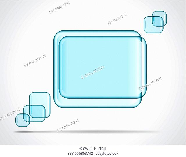 Square glass plates for text