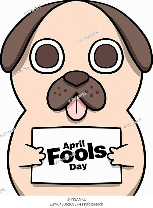 April Fools Day Cartoon Background Vector Image