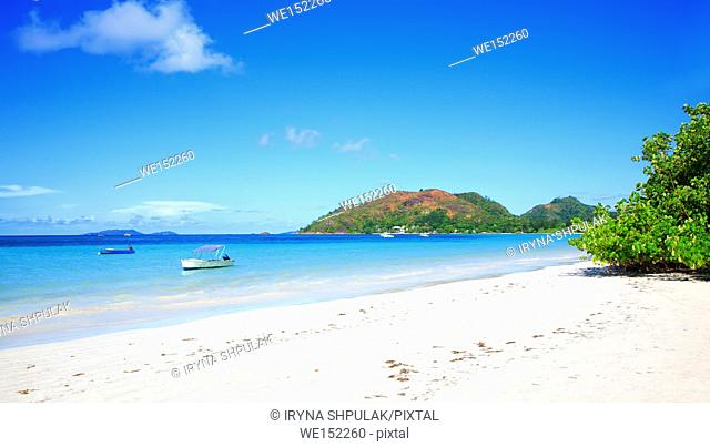 Anse Volbert Beach, Island Praslin, Republic of Seychelles