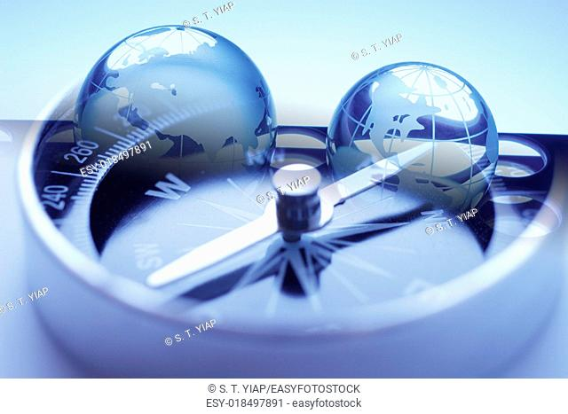 Globes and compass
