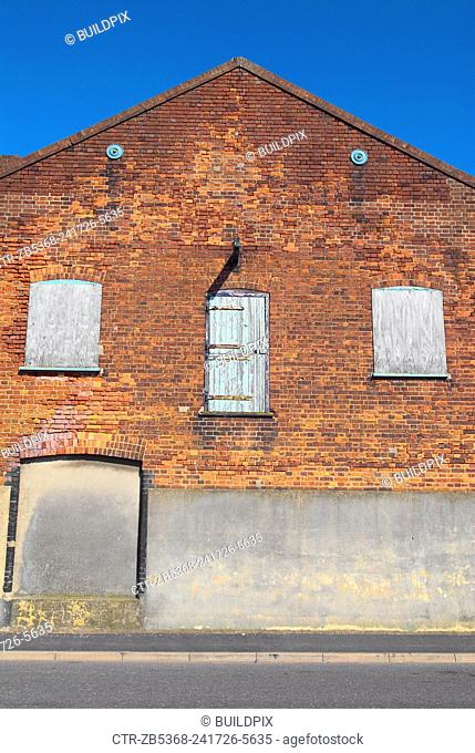 Boarded up warehouse, Great Yarmouth, United Kingdom
