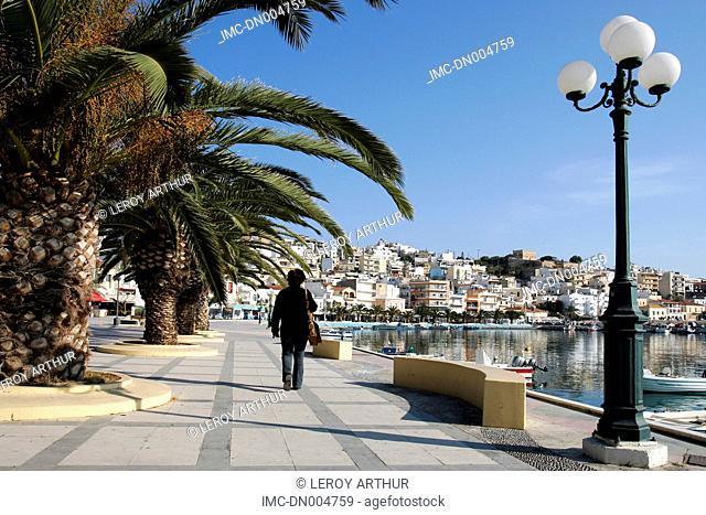 Greece, Crete, port of Sitia, promenade