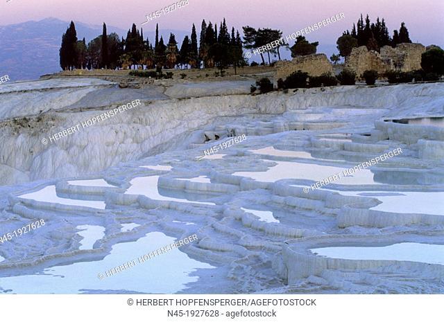 Pamukkale; Terrace Pools; Blue Water; UNESCO World Heritage Site; Turkey