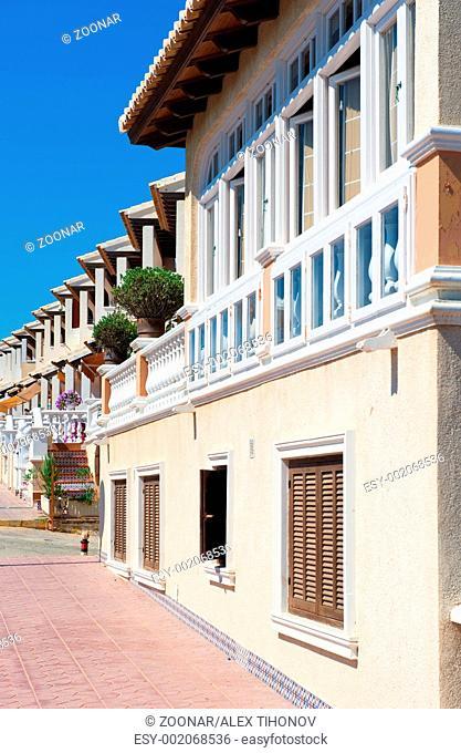 Apartment buildings in Santa Pola, Spain