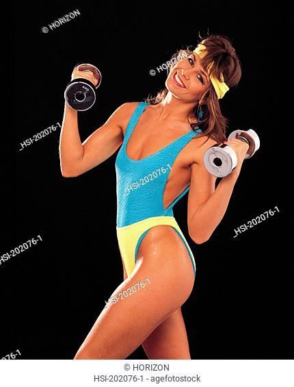 Lifestyle, Woman, Gymnasium, Weight training